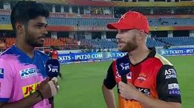 srh-vs-rr-sanju-samson-tells-david-warner